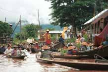 to Jpeg 39K 9809R23 Floating market at Ywama, Lake Inle, Shan State.