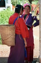 to Jpeg 73K Silver Palaung woman talking to another woman (it is not clear what ethnic group she is from) at Kalaw market, Shan State