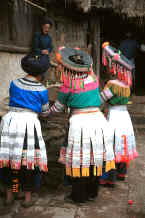 Jpeg 40K Back view of Miao women - Chang Tion village, Cheng Guan township, Puding county, Guizhou province 0010w19.jpg