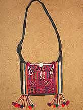 to 41K Jpeg  Hani embroidered and trimmed bag, Menghai  county, Yunnan province, southwest China