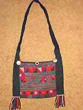 to 40K Jpeg  Hani embroidered and trimmed bag, Menghai  county, Yunnan province, southwest China