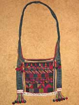 to 44K Jpeg  Hani embroidered and trimmed bag, Menghai  county, Yunnan province, southwest China