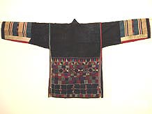 to Back of Hani woman's jacket, Menghai county, Yunnan province