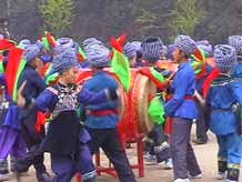 to 48K Jpeg Miao festival dance in a village in Songtao Miao Autonomous County, Tongren Prefecture, eastern Guizhou Province.