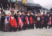 to Jpeg 54K e17e The Shaman and and leading men of the village at the dancing on 29 February 2004, Langde village, Guizhou province