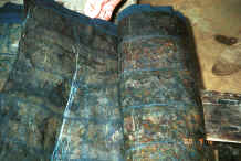Jpeg 44K Big Flower Miao skirt length (ramie or hemp) which has been covered with wax on both sides as a resist and then dyed in indigo - Xian Ma village, Hou Chang township, Puding county, Guizhou province 0010y09.jpg
