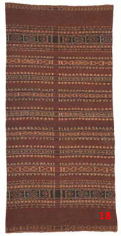 to 91K Jpg - Wate-mea (Red sarong), from Ili Api, woven by Juliana Boy. The ikat was dyed by another lady in the village.