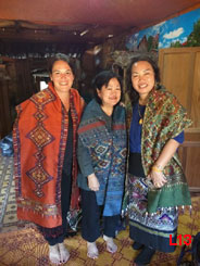 Reveling in fabulous textiles at the home of Ms. Phuttongmany in Xam Tai