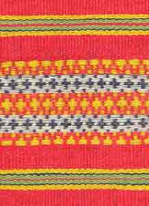 to Jpeg 55K A detail of floating weave Kalinga blanket, highlands of Northern Luzon, Philippines