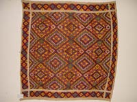 to 75K Jpg 11 - Yakan cotton and silk tapestry headcloth, Basilan Island, early 20th century. 75 cm x 75 cm