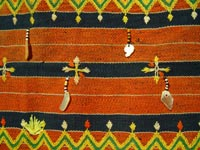 to 75K Jpg 18 - Detail 1 of Kalinga woman's cotton wrap-around skirt with beadwork and mother of pearl fragments, Apayo Province and parts of Abra Province, Northern Luzon, 20th century. 70 cm x 112 cm