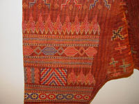 to 76K Jpg 20 - Detail 5 Bla'an man's abaka, cotton and embroidered jacket and trousers, Mindanao, 19th century. Jacket 145 cm x 58 cm x 41 cm, Trousers 43 cm x 53 cm