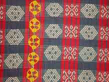 to Jpeg 53K A detail of a pinilian blanket found from Ilocos to Kalinga, highlands of Northern Luzon, Philippines