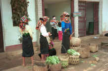 to Jpeg 47K Young Black Thai women with their baskets in the market at Ban Vay on the road from Son La to Dien Bien Phu in Son La Province 9510C25.JPG