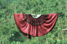 to Jpeg 45K Red Hmong woman's skirt in a village in Lai Chau province, northern Vietnam 9510f26.jpg