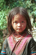 to Jpeg 64K Red Hmong girl in a village in Lai Chau province, northern Vietnam 9510f35.jpg